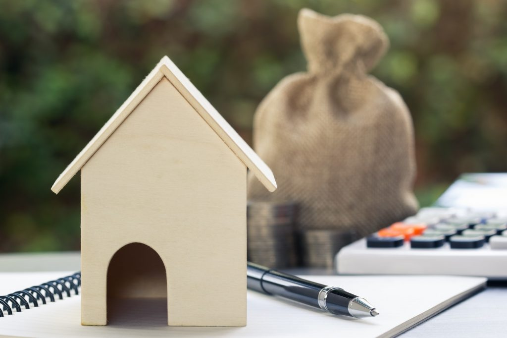 Home loans, cheap home projects, first homes to start a family concept